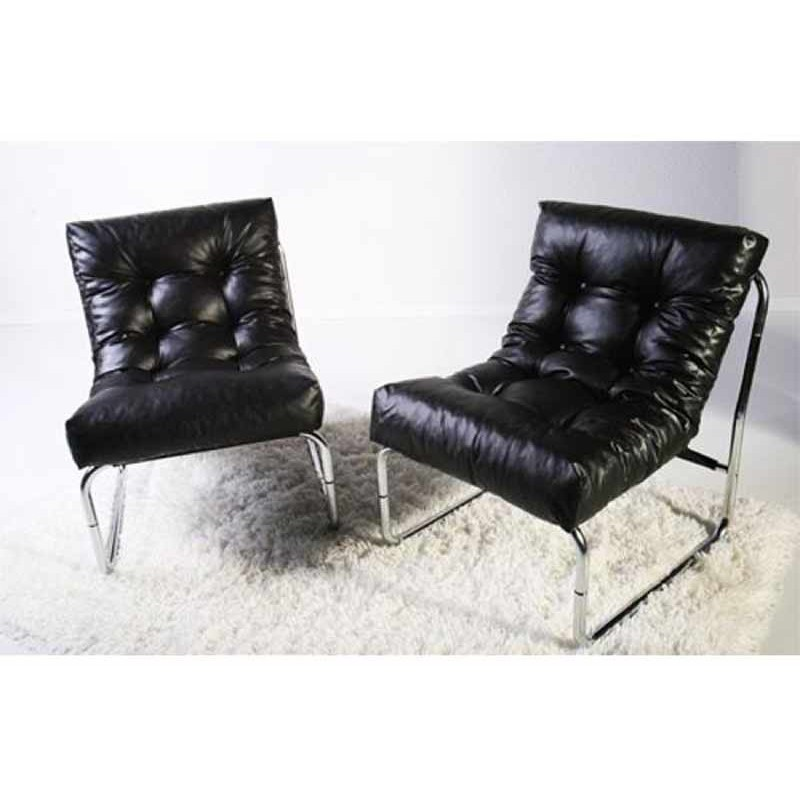 fauteuil design clip noir. Black Bedroom Furniture Sets. Home Design Ideas