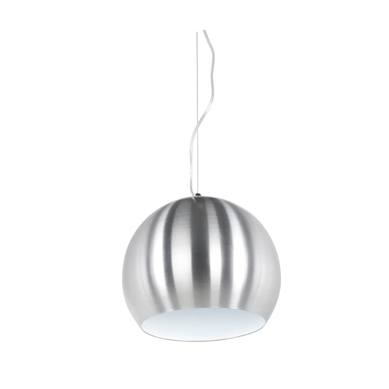 Lampe suspension boule aluminium - Lampe suspension boule ...